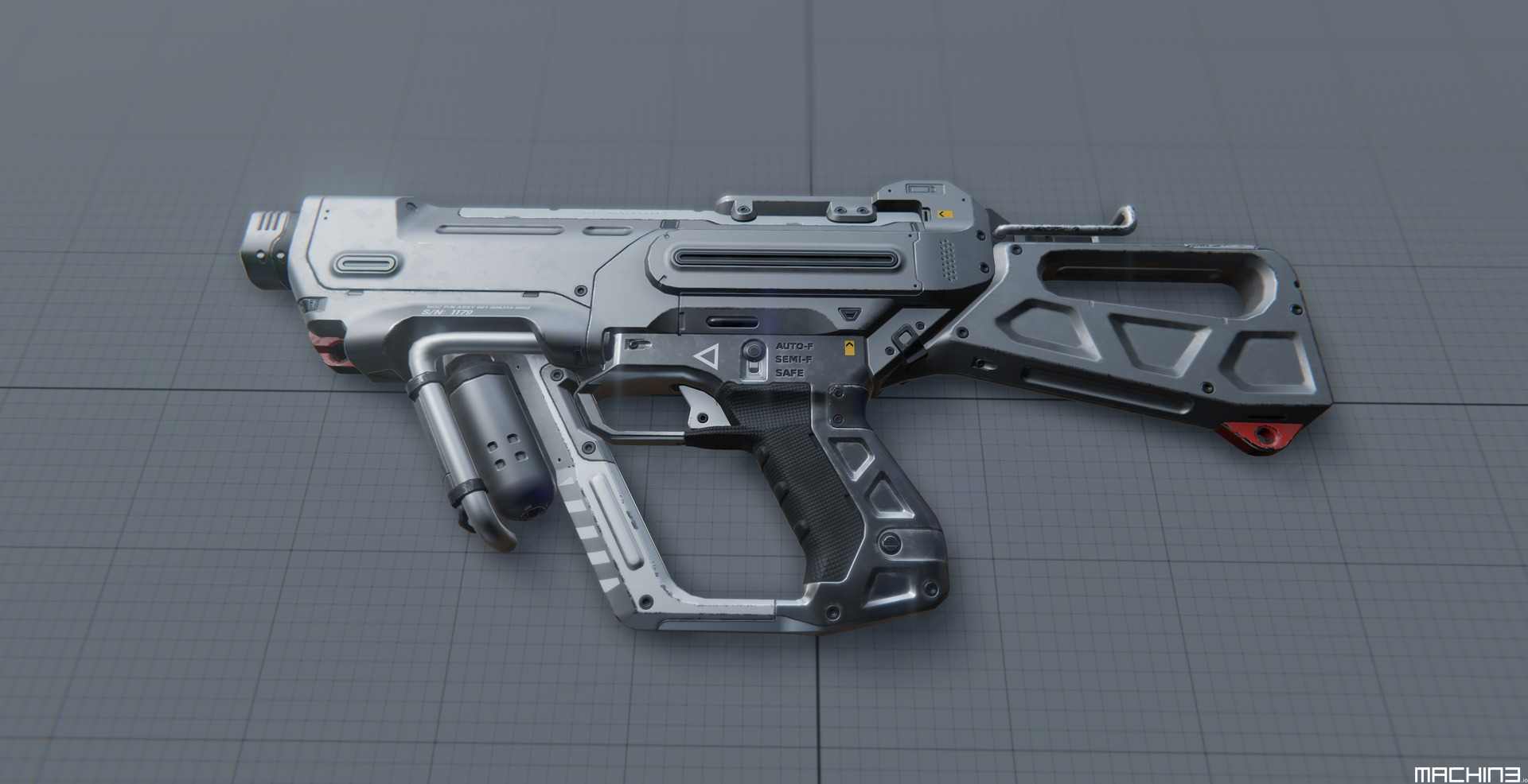 me-SMG SciFi Sub Machine Gun 3D Game Asset - MACHIN3 io