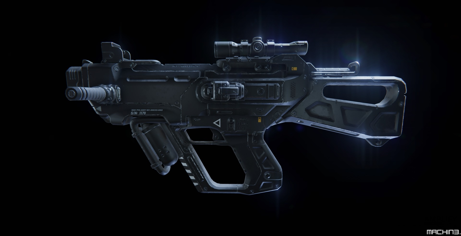 me-SMG SciFi Sub Machine Gun 3D Game Asset - MACHIN3 io